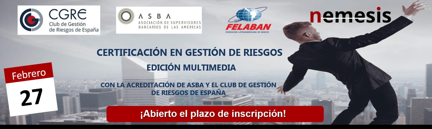 Certificación en Gestión de Riesgos – Edición Multimedia. 27 febrero 2017