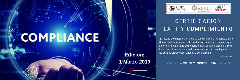 Certificación en Compliance. Edición Online 1 de marzo de 2019