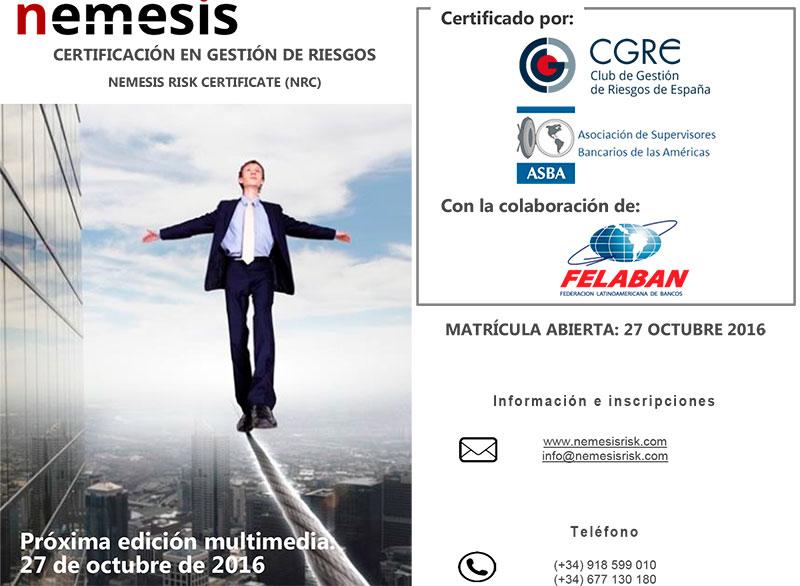 Curso Certificación Riesgos - EdiciónMultimedia Octubre 2016