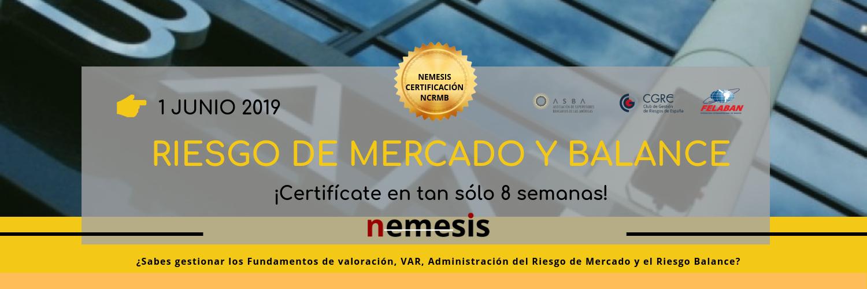 Certificación en RIESGO DE MERCADO Y BALANCE. 1 de junio de 2019
